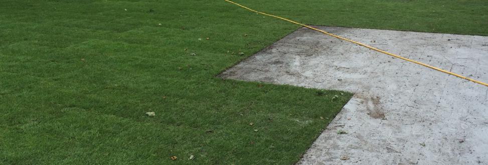 Anlæg af græsplæne Holbæk, Odsherred, beskidt terasse
