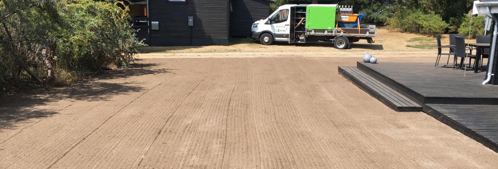 Anlæg af græsplæne Holbæk, Odsherred, gjort klar til såning af græs