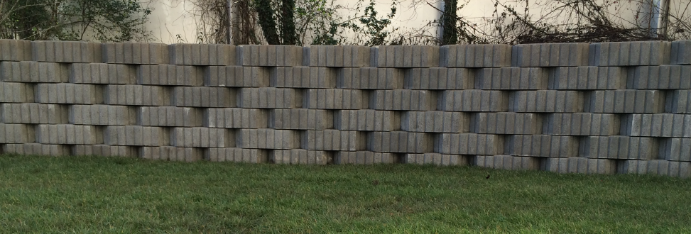 Støttemur Holbæk, Odsherred, mur af store fliser