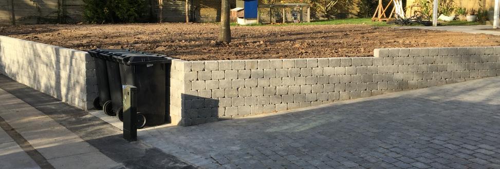 Støttemur Holbæk, Odsherred, mur holder på jorden