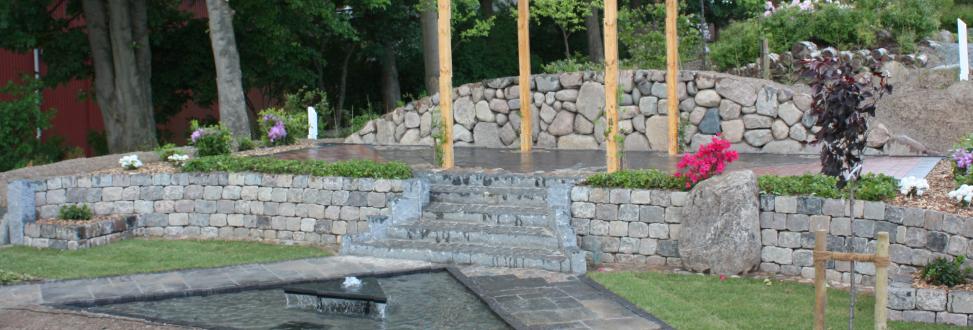 Støttemur Holbæk, Odsherred, trappe af sten